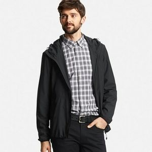 Uniqlo Black Lightweight Packable Hooded Jacket XL